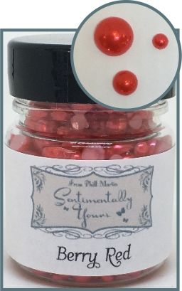 Berry Red Jar Of Pearls