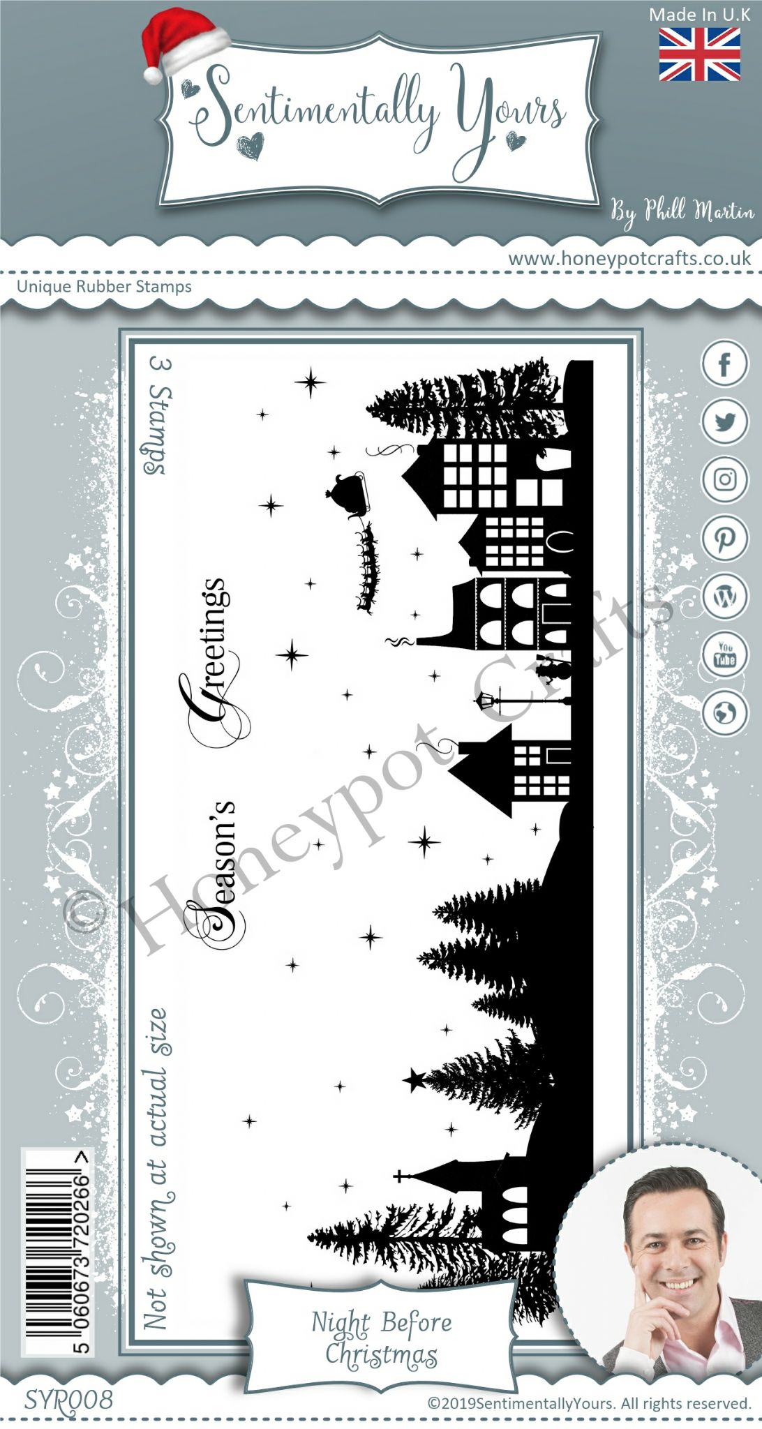 Christmas Stamps 2019.Dl Silhouette Night Before Christmas Stamp Set
