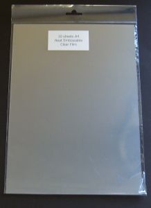 HEAT EMBOSS ACETATE - PACK 10