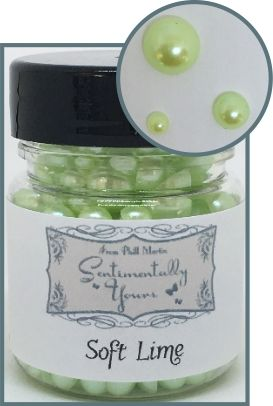 Soft Lime Jar Of Pearls
