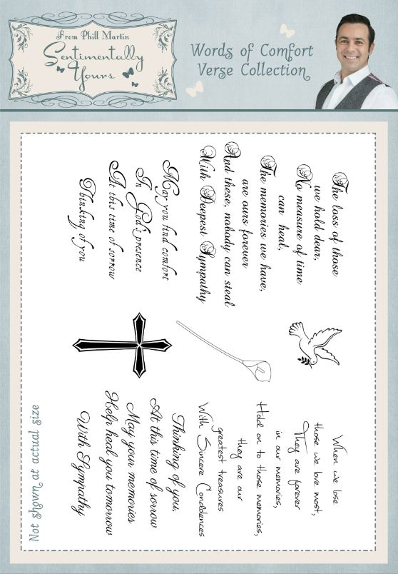 Words Of Comfort Verse Collection A5 Stamp Set